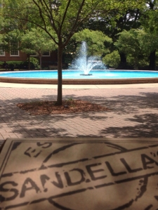 My lunch spot one day during my week on Samford's campus.