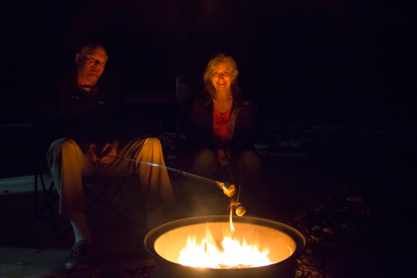 We enjoyed roasted marshmallows (actually Swirlmallows caramel & vanilla) over an open fire.